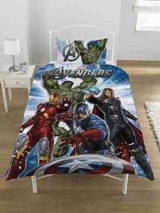 Official Marvel Avengers Single Duvet Bed Set HULK IRONMAN THOR CAPTAIN AMERICA
