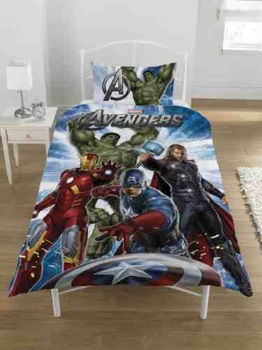 Official Marvel Avengers Single Duvet Bed Set HULK IRONMAN THOR CAPTAIN AMERICA