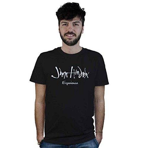 T-Shirt Jimi Hendrix Experience, maglietta Rock nera, logo musica, chitarra