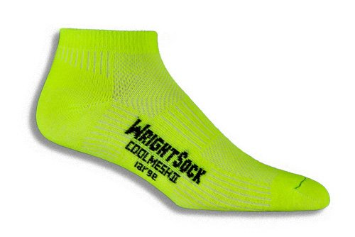 Wrightsock Wrightsock Coolmesh II Low Running Socks - 2 Pack, Neon Yellow, Large