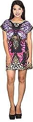 TUC Women's Plain Dress (TUC_01_Butterfly_M, Multi-Coloured, Medium)