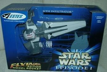 Estes Sith Infiltrator Star Wars Episode I Flying Rocket