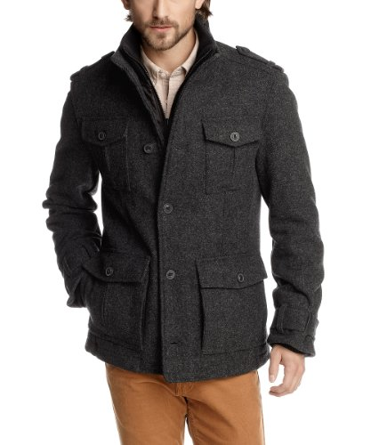 ESPRIT Herren Jacke Regular Fit J30134, Gr. 56  XXL , Grau  dusty grey melange 075  4047705727012