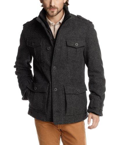 ESPRIT Herren Jacke Regular Fit J30134, Gr. 56  XXL , Grau  dusty grey melange 075  4047705727012