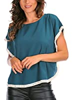 La belle parisienne Camiseta Manga Corta Lauren (Azul Petróleo)