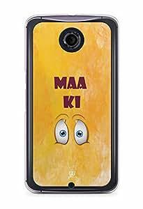 YuBingo Maa Ki Ankh Designer Mobile Case Back Cover for Google Nexus 6