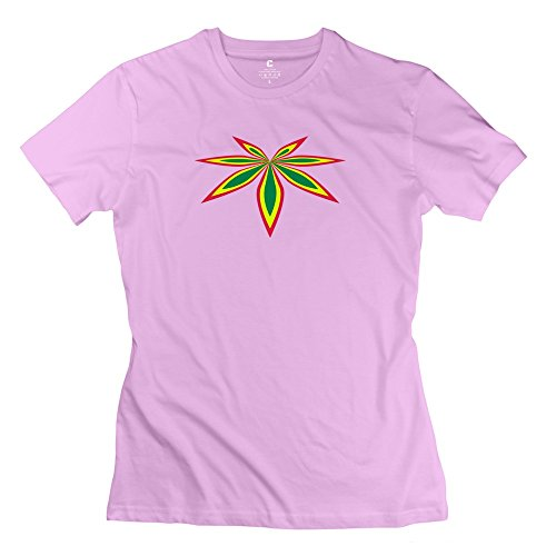 Tgrj Women'S Tees - Funny Tricolor Canna Tee Pink Size M
