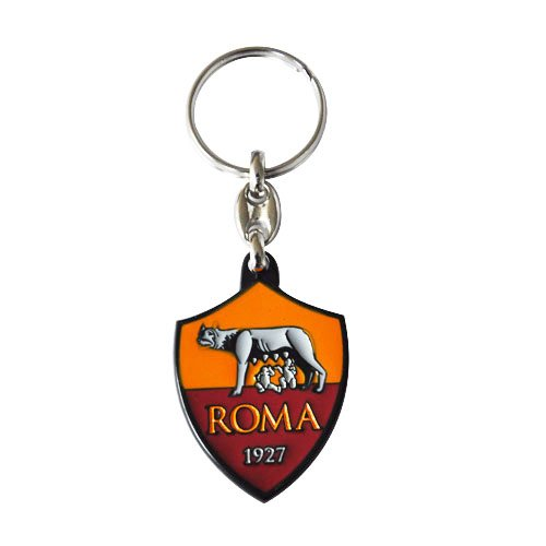 AS ROMA PORTACHIAVI UFFICIALE IN METALLO - AS ROMA OFFICIAL METAL KEYCHAIN