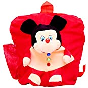 Vpra Mart Red Soft Toy School Bag For Kids, Travelling Bag, Carry Bag, Picnic Bag, Teddy Bag (Red)