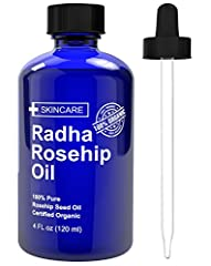 Ready to moisturize, look younger and have softer skin WITHOUT using any chemicals on your skin? Ready to try the BEST RATED ROSEHIP OIL on Amazon?  *Discover the new 100% pure and CERTIFIED Organic RADHA ROSEHIIP OIL  *Try it 100% risk free, if you ...