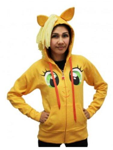 My Little Pony Applejack Face Juniors Orange Costume Hoodie with Mane