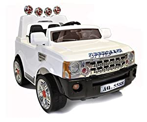 Storm 12V White Hurricane Kids Electric Ride On Jeep 4X4