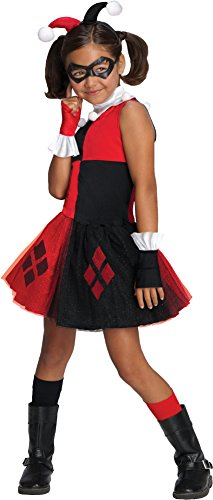 DC-Super-Villain-Collection-Harley-Quinn-Girls-Costume-with-Tutu-Dress
