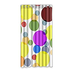 Polka Dots Design House Custom Decors Polyester Blackout Window Curtains 50\