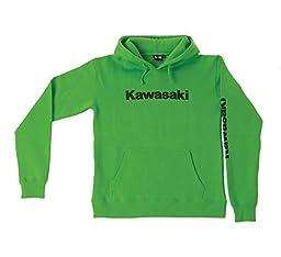 Factory Kawasaki 2013 Youth Unisex Boys Girls Logo Pull Over Hoody Green Small