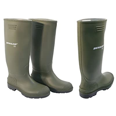 Ladies & mens green dunlop wellington boots,wellies,gardening,rain,rubber