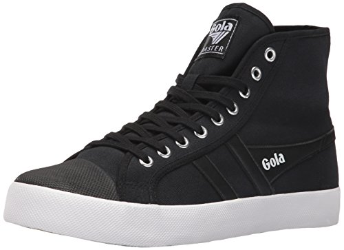 Gola Men's Coaster High Fashion Sneaker, Black/Black/White, 9 UK/10 M US