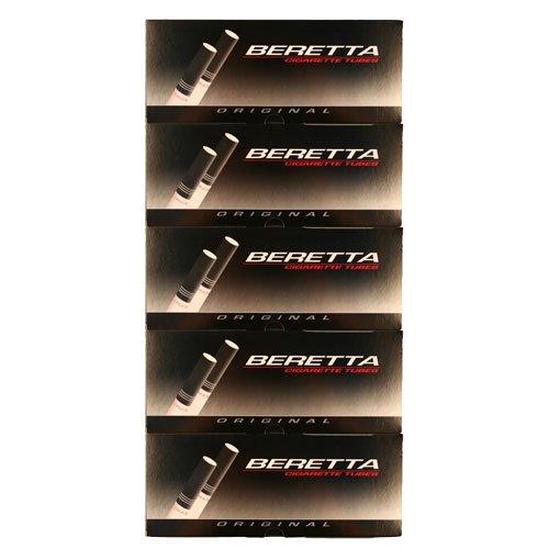 Beretta Original King Cigarette Tubes 200ct Carton 5 Pack