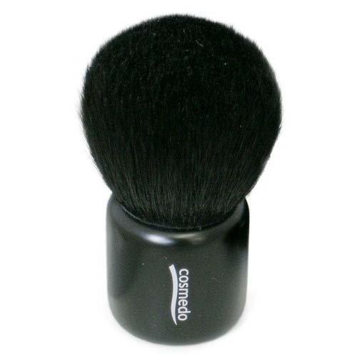 匠の化粧筆コスメ堂 熊野筆メイクブラシ 灰リス入り きのこブラシ ブラック