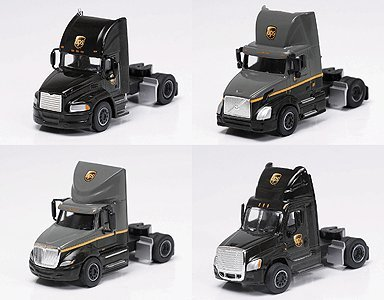 trucks-n-stuff-734-sp2008-h0-united-parcel-service-semi-tractor-only-4-pack-assembled-1-each-cascadi