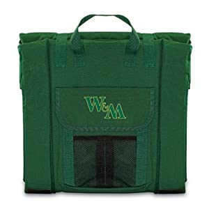 Stadium Seat - William Mary College - Portable Padded Stadium Seat With 2 Large Utility Zipper Pockets Is Made Of 600d Polyester Canvas The Stadium Pack Is Ideal For Anyone Who Enjoys Sporting Events Concerts Etc This Padded Seat Provides Full Back by Pic