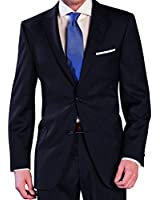 Herren Anzug aus reiner Schurwolle in Dunkelblau, Marke Lanificio Tessuti Italia (44-60, 24-30, 90-114)