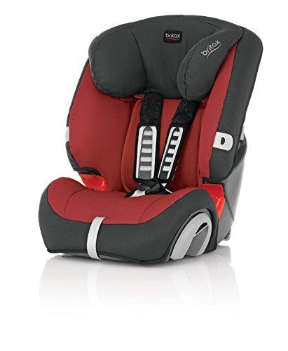 Britax, Seggiolino da auto per bambini EVOLVA 1-2-3, Gruppo 1-2-3 (9-36 kg), Rosso (rot)