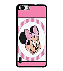 PrintDhaba Minnie Mouse D-1362 Back Case Cover for HUAWEI HONOR 6 PLUS (Multi-Coloured)