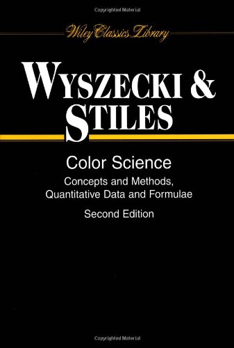 Amazon.com: Color Science: Concepts and Methods, Quantitative Data and Formulae (9780471399186): Günther Wyszecki, W. S. Stiles: Books