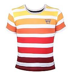 Vitamins Boys' T-Shirt (08B-506-6-Orange_Orange_6 - 7 Years)