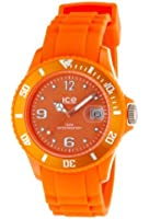 Ice Watch - Montre Unisex - Ice Watch - Si.Oe.Us.09 - Quartz Analogique - Cadran Orange - Bracelet Plastique