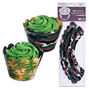 Reversible Camo Cupcake Wrapper Wraps - 48 ct
