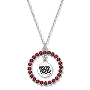 Dale Earnhardt Jr. #88 Spirit Crystal Logo Wreath Necklace by Logo Art