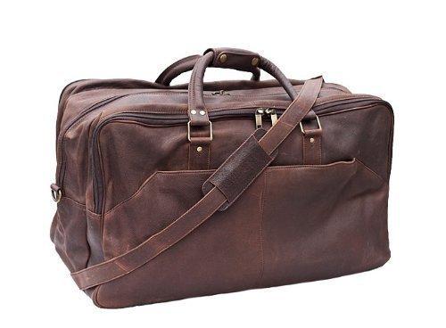 PRIMEHIDE - borsone elite da viaggio - pelle marrone scolorito, Una misura