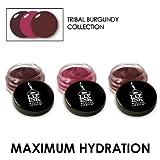 LIP INK Genuine Organic Vegan Tinted Wax-Free Lip Balms Burgundy Collection (3 pack)