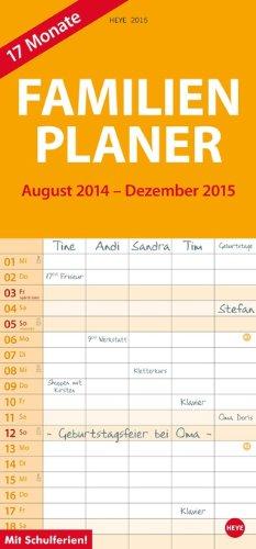17-Monats-Familienplaner 2015, Buch