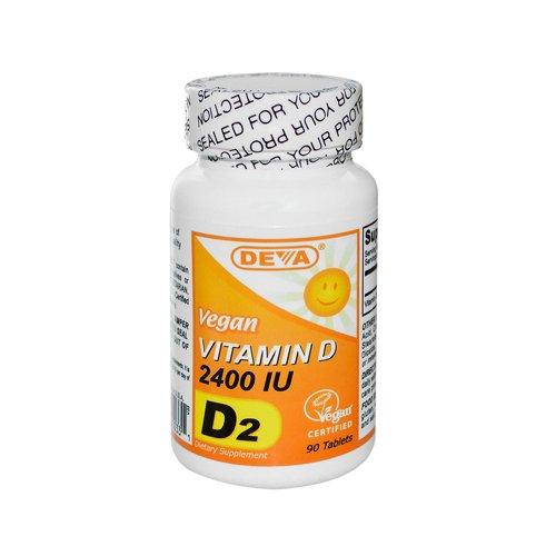 Deva Nutrition Llc - Vegan Vitamin D2 2400 Iu 90 Tab