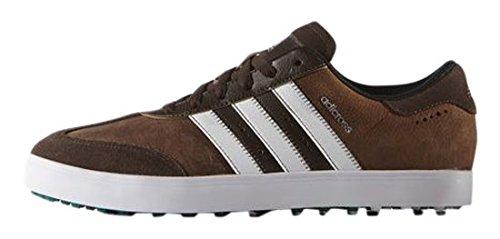 adidas Adicross V-Zapatos da golf, da uomo, UOMO, Marrón / Blanco / Verde
