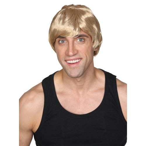 Wicked Costumes Mens Short 60s style Wig Fancy Dress Costume Accessory - Blonde