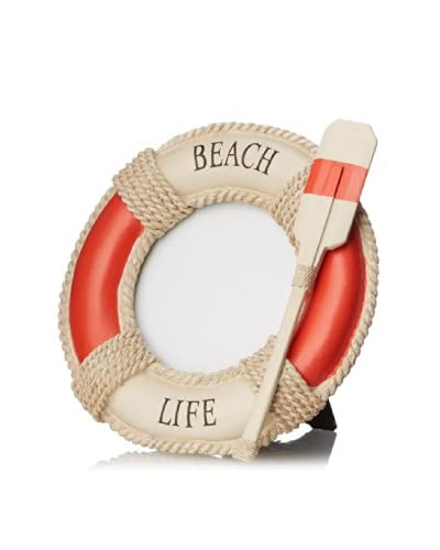 Beach Life Round Photo Frame