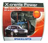 Philips H13 9008 X-treme Power Headlight Bulb, Pack of 2