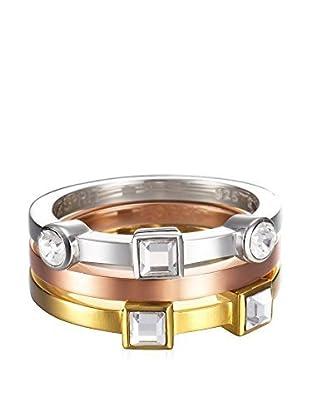 Esprit Steel Anillo ESZZ10717A190 (Dorado / Plateado / Oro Rosa)