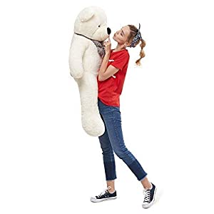 Misscindy Giant Teddy Bear Plush Stuffed Animals for Girlfriend or Kids 47 inch, (White) (Color: White)