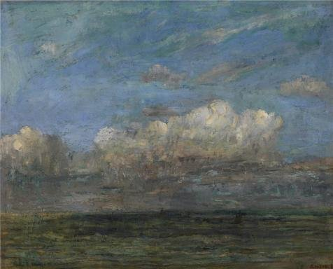 Oil Painting 'James Ensor - The White Cloud,1884', 16 x 20 inch / 41 x 50 cm , on High Definition HD canvas prints is for Gifts And Bar, Foyer And Laundry Room Decoration, cheap prints on (Upright Elephant Ear Bulbs compare prices)