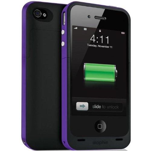 Purple Mophie Juice Pack Plus - iPhone 4  4S Battery Case 紫