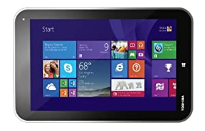 Toshiba Encore 8-inch Tablet (Intel Atom Quad Core Processor 1.8 GHz, 2 GB RAM, 64 GB SSD, Wi-Fi, Bluetooth, 2 x Cameras, Windows 8.1) - Silver