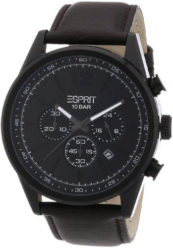 Esprit ES106351003 - Reloj analógico de cuarzo para hombre con correa de piel, color marrón
