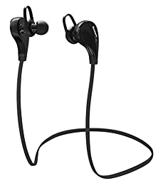 buy Bluetooth Headphones, Saxhorn Wireless Headphones Sweat Proof Stereo Headset, Noise Cancellation Earbuds With Mic And Hands Free Calling For Sports/Running/Gym/Exercise (Black)