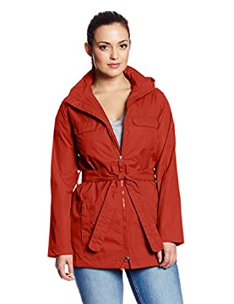 Charles River Apparel Women's Nor'Easter Waterproof Raincoat,X-Small,Poppy