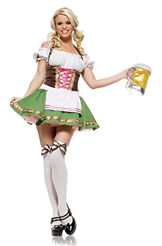 Mememall Fashion Sexy Gretchen Beer Lady October Fest Adult Halloween Costume (Jackie Moon Halloween Costume)